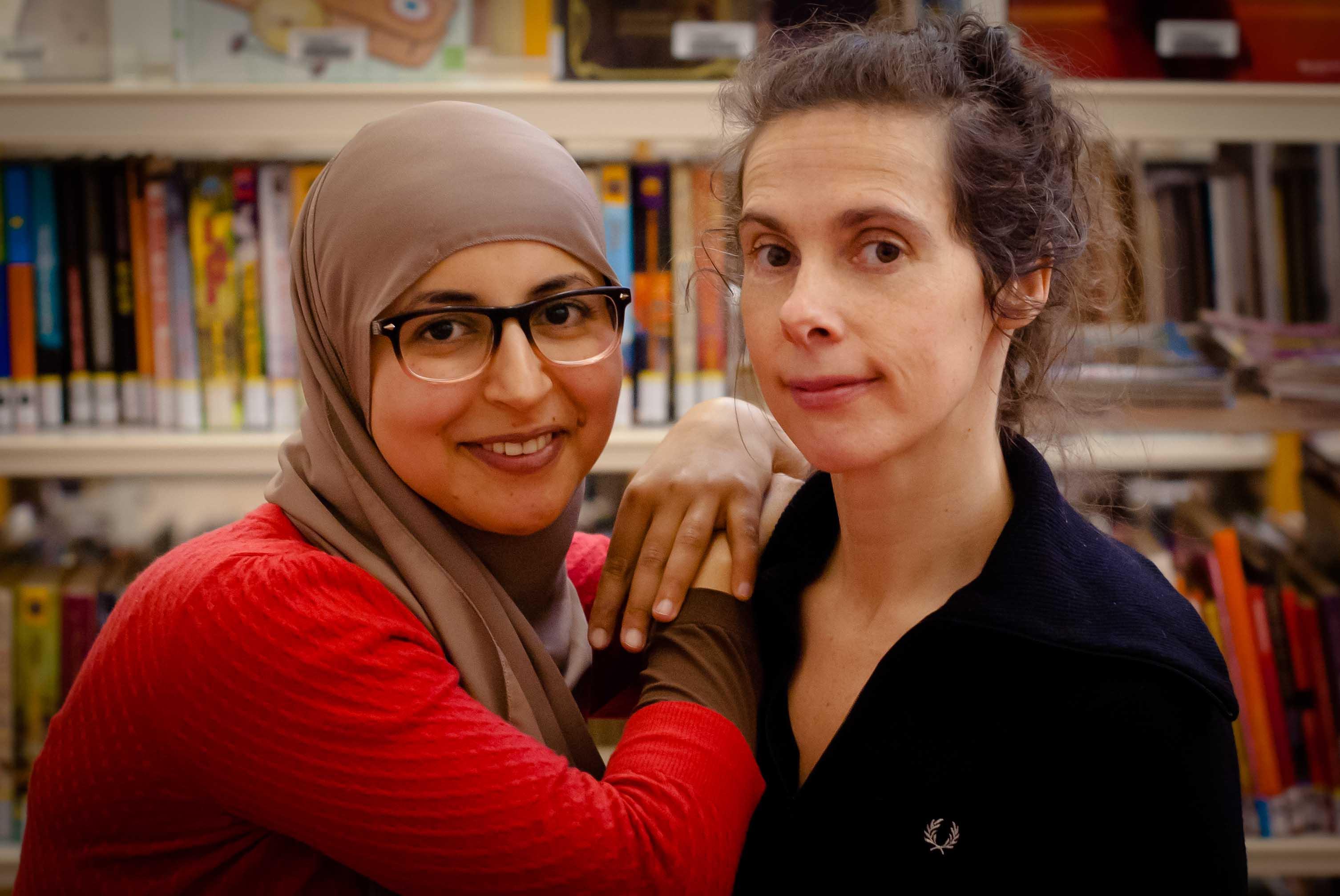 Khadija en Inge